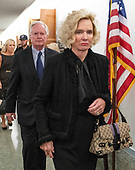 Everett Edward, Kavanaugh, Jr., left, and Martha Kavanaugh, right, parents of Judge Brett Kavanaugh, depart the hearing room during a break in the testimony before the United States Senate Committee on the Judiciary as their son attempts to refute the testimony of Dr. Christine Blasey Ford on his nomination to be Associate Justice of the US Supreme Court to replace the retiring Justice Anthony Kennedy on Capitol Hill in Washington, DC on Thursday, September 27, 2018.<br /> Credit: Ron Sachs / CNP<br /> (RESTRICTION: NO New York or New Jersey Newspapers or newspapers within a 75 mile radius of New York City)