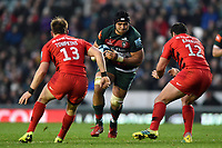 Sione Kalamafoni of Leicester Tigers in possession. Gallagher Premiership match, between Leicester Tigers and Saracens on November 25, 2018 at Welford Road in Leicester, England. Photo by: Patrick Khachfe / JMP