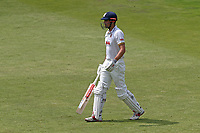 Alastair Cook of Essex leaves the field having been dismissed for 58 during Lancashire CCC vs Essex CCC, Specsavers County Championship Division 1 Cricket at Emirates Old Trafford on 10th June 2018