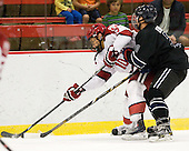 Brayden Jaw (Harvard - 10), Zach Ledford (Bentley - 20) - The Harvard University Crimson defeated the visiting Bentley University Falcons 5-0 on Saturday, October 27, 2012, at Bright Hockey Center in Boston, Massachusetts.