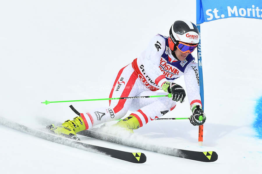 February 17, 2017: Roland LEITINGER (AUT) competing in the men's giant slalom event at the FIS Alpine World Ski Championships at St Moritz, Switzerland. Photo Sydney Low