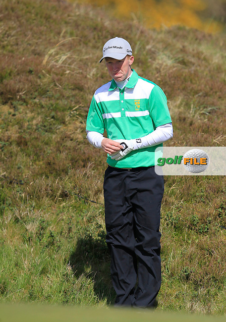 Gavin Moynihan (AM) on the 8th fairway during Round 1 of the 2015 Dubai Duty Free Irish Open, Royal County Down Golf Club, Newcastle Co Down, Northern Ireland. 28/05/2015<br /> Picture Thos Caffrey, www.golffile.ie