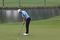 Rafa Cabrera Bello (Europe) on the 3rd green during the Saturday Foursomes of the Eurasia Cup at Glenmarie Golf and Country Club on the 13th January 2018.<br /> Picture:  Thos Caffrey / www.golffile.ie