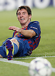 Barcelona's Lionel Messi during Champions League match on september 13th 2011...Photo: Cesar Cebolla / ALFAQUI