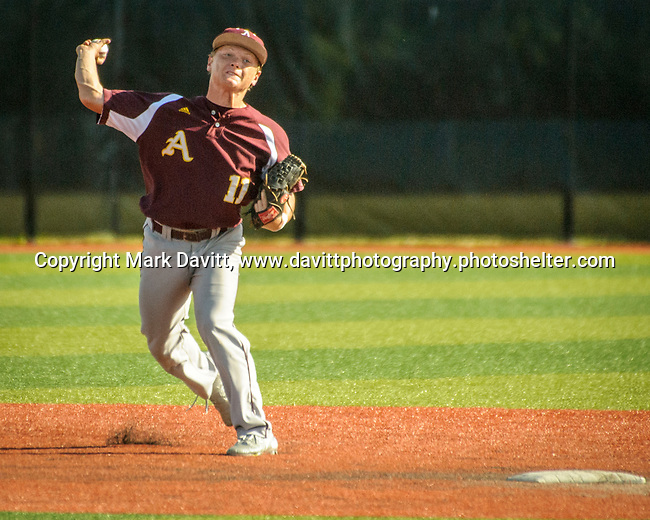 Southeast Polk and Ankeny met for a double header at SEP June 21. SEP prevailed twice, 2-0 and 8-1. AHS's Drew Hill delivers his throw to first base.
