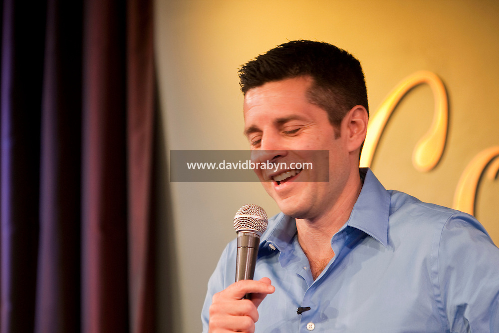 Comedian Dean Obeidallah performs in the 6th Annual NY Arab-American Comedy Festival in New York, USA, 13 May 2009.