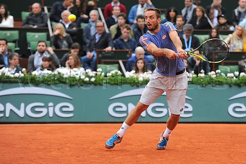 29.05.2016. Stade Roland Garros, Paris, France. Roland Garros French Open Tennis Day 8.  Viktor Troicki (SRB)