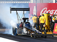 Feb 24, 2017; Chandler, AZ, USA; NHRA top fuel driver Shawn Reed during qualifying for the Arizona Nationals at Wild Horse Pass Motorsports Park. Mandatory Credit: Mark J. Rebilas-USA TODAY Sports