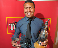 Most promising paleyr of the year Ardie Savea at the Wellington Rugby Union Tui Awards at the Embassy Theatre, Wellington, New Zealand on Tuesday, 30 October 2012. Photo: Dave Lintott / lintottphoto.co.nz