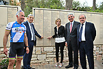 Stage 1 of the 101st Giro d&rsquo;Italia is dedicated to Gino Bartali, the former champion who was awarded the honour of &lsquo;Righteous Among the Nations&rsquo; on 10th October 2003, three years after he passed away. His name is engraved on the Wall of Honor in the Garden of the Righteous in the Yad Vashem Memorial in Jerusalem. On the occasion of the first-ever Big Start of the Giro d&rsquo;Italia outside of Europe, the great Italian cyclist has been made honorary citizen of Israel by the country&rsquo;s authorities. Yad Vashem chairman Avner Shalev presented the certificate of Commemorative Citizenship to his grand-daughter, Gioia Bartali, in the presence of Italian ambassador to Israel Gianluigi Benedetti and Honorary President of Giro d&rsquo;Italia Big Start Sylvan Adams. Jerusalem, Israel. 2nd May 2018.<br /> Picture: LaPresse | Cyclefile<br /> <br /> <br /> All photos usage must carry mandatory copyright credit (&copy; Cyclefile | LaPresse)