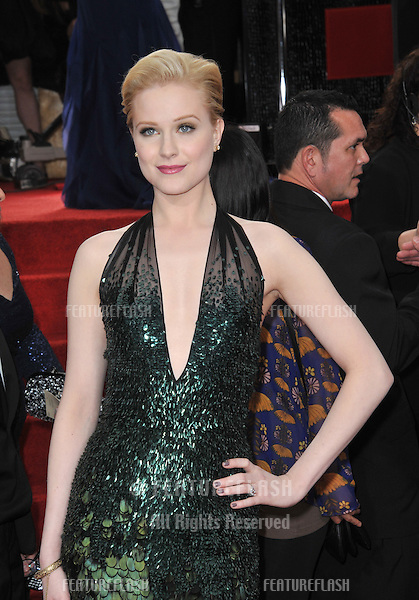 Evan Rachel Wood at the 69th Golden Globe Awards at the Beverly Hilton Hotel..January 15, 2012  Beverly Hills, CA.Picture: Paul Smith / Featureflash