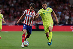 Atletico de Madrid's Joao Felix and Getafe CF's Bruno Gonzalez during La Liga match between Atletico de Madrid and Getafe CF at Wanda Metropolitano Stadium in Madrid, Spain. August 18, 2019. (ALTERPHOTOS/A. Perez Meca)