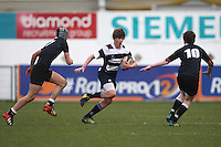 11 March 2013; Gary Dillon in action during the Medallion Shield Final between Wallace High School and Campbell College at Ravenhill, Belfast, DICKSONDIGITAL