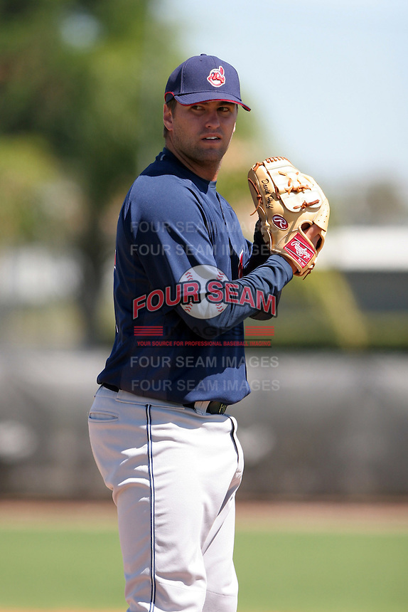 Cleveland Indians minor leaguer David Huff during Spring Training at the Chain of Lakes Complex on March 17, 2007 in Winter Haven, Florida.  (Mike Janes/Four Seam Images)