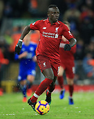 30th January 2019, Anfield, Liverpool, England; EPL Premier League football, Liverpool versus Leicester City; Sadio Mane of Liverpool runs forward with the ball