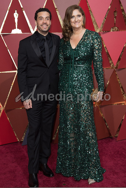 26 February 2017 - Hollywood, California - Ezra Edelman and Caroline Waterlow. 89th Annual Academy Awards presented by the Academy of Motion Picture Arts and Sciences held at Hollywood & Highland Center. Photo Credit: AMPAS/AdMedia