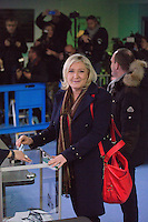 Marine Le Pen voting for the second round of the regional elections - France