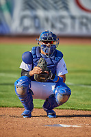 Ramon Rodriguez (7) of the Ogden Raptors before the game against the Grand Junction Rockies at Lindquist Field on August 28, 2019 in Ogden, Utah. The Rockies defeated the Raptors 8-5. (Stephen Smith/Four Seam Images)