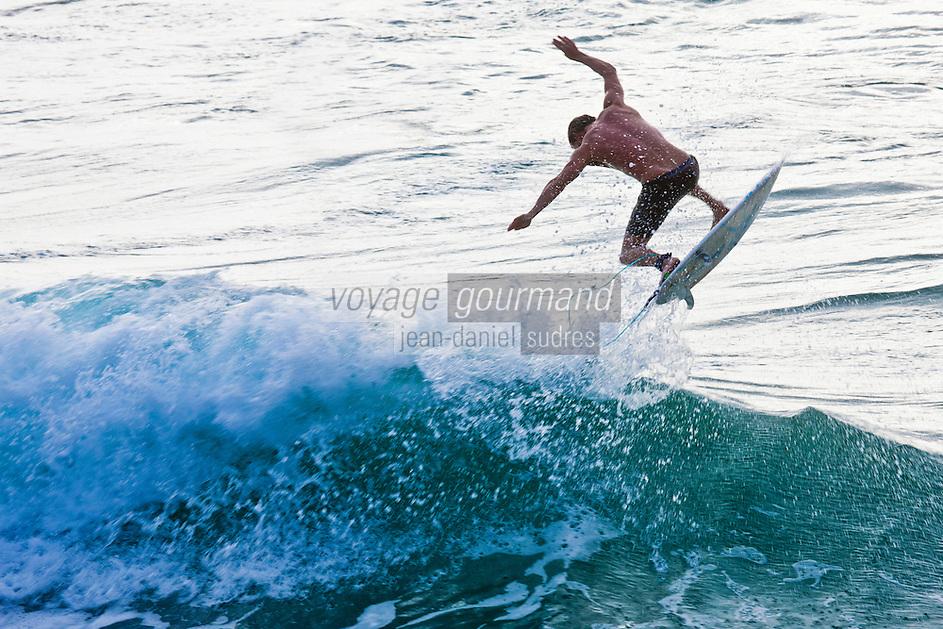 Europe/France/Aquitaine/64/Pyrénées-Atlantiques/Pays-Basque/Biarritz:  Surfer, Plage de la Côte des Basques
