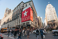 The Macy's Herald Square flagship department store in New York on Friday, February 17, 2017. Macy's is expected to report its fourth-quarter earnings on Tuesday, February 21, 2017.  (© Richard B. Levine)