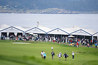 Emiliano Grillo (ARG) and Thorbjorn Olesen (DEN) make their way down 14 during round 1 of the 2019 US Open, Pebble Beach Golf Links, Monterrey, California, USA. 6/13/2019.<br /> Picture: Golffile | Ken Murray<br /> <br /> All photo usage must carry mandatory copyright credit (© Golffile | Ken Murray)