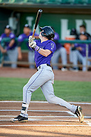 Will Golsan (11) of the Grand Junction Rockies bats during a game against the Ogden Raptors at Lindquist Field on September 7, 2018 in Ogden, Utah. The Rockies defeated the Raptors 8-5. (Stephen Smith/Four Seam Images)