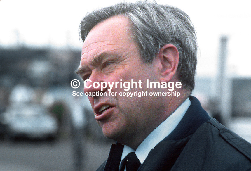 Allan Deacon, test pilot, Short Brothers Ltd, Belfast, N Ireland, 19850611AD2. Shorts was later bought by Bombardier Canada.<br />