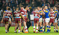 Picture by Allan McKenzie/SWpix.com - 13/04/2018 - Rugby League - Betfred Super League - Leeds Rhinos v Wigan Warriors - Headingley Carnegie Stadium, Leeds, England - Wigan and Leeds shake hands at the end of the game.