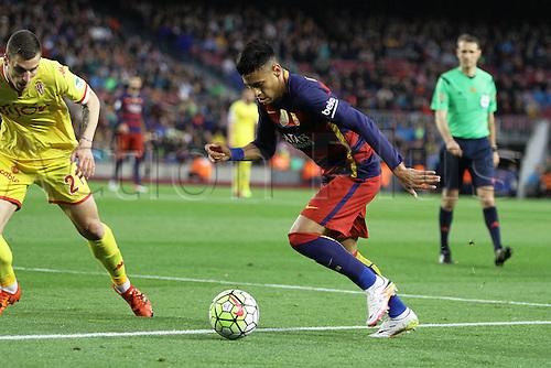 23.04.2016. Nou Camp, Barcelona, Spain. La Liga. Barcelona versus Sporting de Gijón. Nymar in action during the match