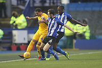 Preston North End's Lukas Nmecha battles with  Sheffield Wednesday's Morgan Fox<br /> <br /> Photographer Mick Walker/CameraSport<br /> <br /> The EFL Sky Bet Championship - Sheffield Wednesday v Preston North End - Saturday 22nd December 2018 - Hillsborough - Sheffield<br /> <br /> World Copyright &copy; 2018 CameraSport. All rights reserved. 43 Linden Ave. Countesthorpe. Leicester. England. LE8 5PG - Tel: +44 (0) 116 277 4147 - admin@camerasport.com - www.camerasport.com