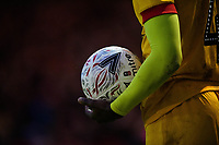 A close up a Mitre Emirates FA Cup match football<br /> <br /> Photographer Chris Vaughan/CameraSport<br /> <br /> Emirates FA Cup First Round - Lincoln City v Northampton Town - Saturday 10th November 2018 - Sincil Bank - Lincoln<br />  <br /> World Copyright © 2018 CameraSport. All rights reserved. 43 Linden Ave. Countesthorpe. Leicester. England. LE8 5PG - Tel: +44 (0) 116 277 4147 - admin@camerasport.com - www.camerasport.com