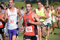Nov 14, 2015; Claremont, CA, USA; Robert George of Occidental runs during the 2015 NCAA Division III West Regionals cross country championships at Pomona-Pitzer College. (Freelance photo by Kirby Lee)