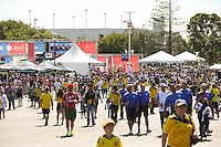 Santa Clara, CA - Friday June 03, 2016: Fans walk about prior to a Copa America Centenario Group A match between United States (USA) and Colombia (COL) at Levi's Stadium.