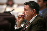 Nevada Assemblyman P.K. O'Neill, R-Carson City, works in committee at the Legislative Building in Carson City, Nev., on Monday, March 23, 2015. <br /> Photo by Cathleen Allison