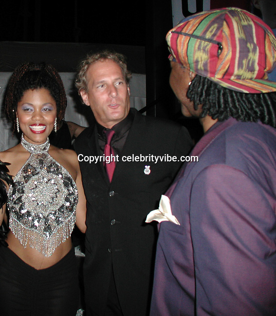 Audra Lomax,  Michael Bolton & Nile Rodgers.Smock Magazine Launch Party.South Street Seaport.New York, NY.June 26, 2001.Photo By CelebrityVibe.com..