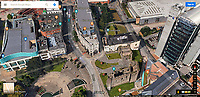 "GOOGLE MAPS SCREEN GRAB<br /> The two-word graffiti message, which reads  ""Slut Punch"", accompanied by a crude painting of male genitalia on the rof of Lazerzone Club in the city centre of Swansea, seen on Google Maps in Wales, UK"