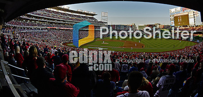 11 October 2012: A Washington Nationals sellout crowd of 44,392 cheer the team during Postseason Playoff Game 4 of the National League Divisional Series against the St. Louis Cardinals at Nationals Park in Washington, DC. The Nationals defeated the Cardinals 2-1 on a 9th inning, walk-off solo home run by Jayson Werth, tying the Series at 2 games apiece. Mandatory Credit: Ed Wolfstein Photo