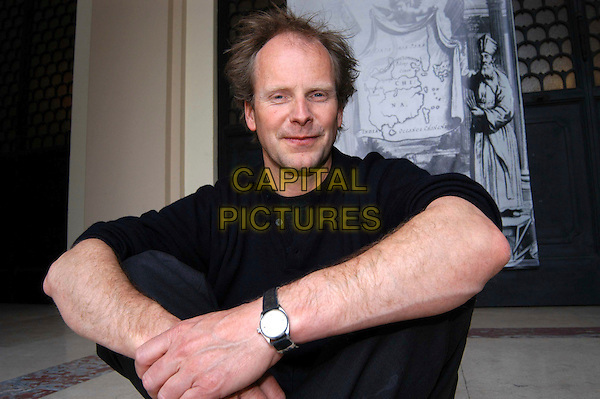 "PHILIP GRONING.Photocall for ""Into Great Silence"" at Gregoriana University, Rome, Italy..March 28th, 2006.Ref: CAV.Große Stille, Die Phillip half length sitting.www.capitalpictures.com.sales@capitalpictures.com.© Capital Pictures."