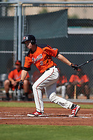 San Francisco Giants Austin Slater (6) during an instructional league game against the Colorado Rockies on October 7, 2015 at the Giants Baseball Complex in Scottsdale, Arizona.  (Mike Janes/Four Seam Images)