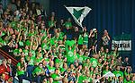 ****BETALBILD**** <br /> Uppsala 2015-04-24 Basket SM-Final 3 Uppsala Basket - S&ouml;dert&auml;lje Kings :  <br /> S&ouml;dert&auml;lje Kings supportrar p&aring; l&auml;ktaren i Fyrishov under matchen mellan Uppsala Basket och S&ouml;dert&auml;lje Kings <br /> (Foto: Kenta J&ouml;nsson) Nyckelord:  Basket Basketligan SM SM-final Final Fyrishov Uppsala S&ouml;dert&auml;lje Kings SBBK supporter fans publik supporters inomhus interi&ouml;r interior