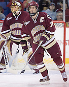 (Cory Schneider) Peter Harrold - The Boston College Eagles defeated the University of Massachusetts-Lowell River Hawks 4-3 in overtime on Saturday, January 28, 2006, at the Paul E. Tsongas Arena in Lowell, Massachusetts.