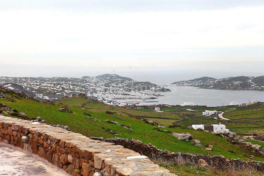 view of Mykonos island