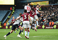 Bolton Wanderers' David Wheater competing with Aston Villa's James Chester<br /> <br /> Photographer Andrew Kearns/CameraSport<br /> <br /> The EFL Sky Bet Championship - Aston Villa v Bolton Wanderers - Friday 2nd November 2018 - Villa Park - Birmingham<br /> <br /> World Copyright &copy; 2018 CameraSport. All rights reserved. 43 Linden Ave. Countesthorpe. Leicester. England. LE8 5PG - Tel: +44 (0) 116 277 4147 - admin@camerasport.com - www.camerasport.com