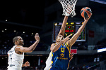 Real Madrid Anthony Randolph and Herbalife Gran Canaria Eulis Baez during Turkish Airlines Euroleague match between Real Madrid and Herbalife Gran Canaria at WiZink Center in Madrid, 20 November 2018. (ALTERPHOTOS/Borja B.Hojas)