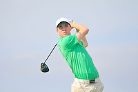 Stuart Grehan (IRL) on the 12th during the Home Internationals day 2 foursomes matches supported by Fairstone Financial Management Ltd. at Royal Portrush Golf Club, Portrush, Co.Antrim, Ireland.  13/08/2015.<br /> Picture: Golffile   Fran Caffrey<br /> <br /> <br /> All photo usage must carry mandatory copyright credit (© Golffile   Fran Caffrey)
