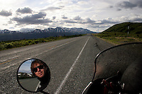 View of the road in Southern Alaska. June 12, 2005.Born in Argentina, photographer Ivan Pisarenko in 2005  decided to ride his motorcycle across the American continent. While traveling Ivan is gathering an exceptional photographic document on the more diverse corners of the region. Archivolatino will publish several stories by this talented young photographer..
