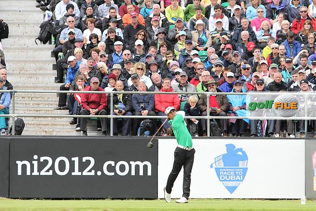 Thornjorn Olesen (DEN) on the 1st on Day 4 of the 2012 Irish Open at Royal Portrush Golf Club, Portrush, Co.Antrim, 1/7/12...(Photo Jenny Matthews/www.golffile.ie)