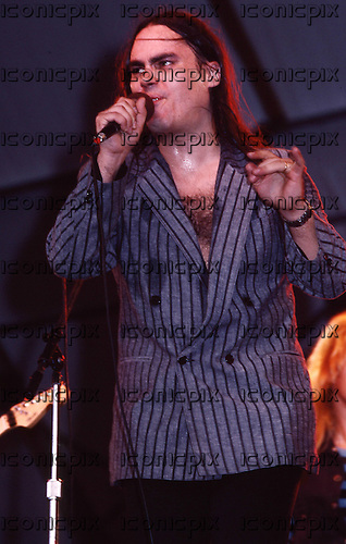 PLANET P PROJECT - vocalist Tony Carey - performing live in concert in New York City USA - July 1984.  Photo Credit : David Plastik/ IconicPix