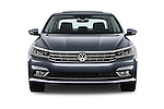 Car photography straight front view of a 2016 Volkswagen Passat 3.6L-SEL-Premium-Auto 4 Door Sedan Front View