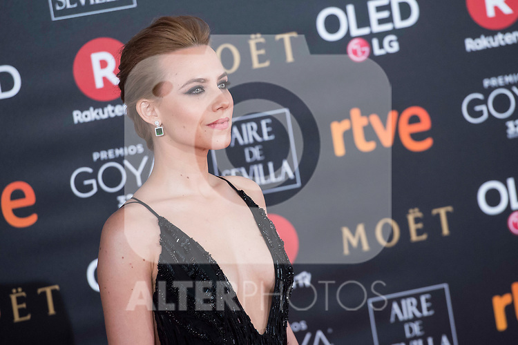 Aura Garrido attends red carpet of Goya Cinema Awards 2018 at Madrid Marriott Auditorium in Madrid , Spain. February 03, 2018. (ALTERPHOTOS/Borja B.Hojas)
